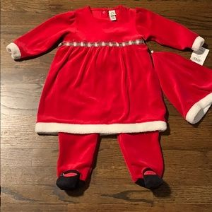 Little Me One Piece Holiday Dress and Hat